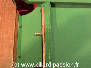 fixation bande - billard