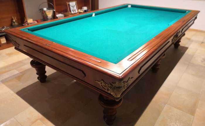 small pockets of the billiard table
